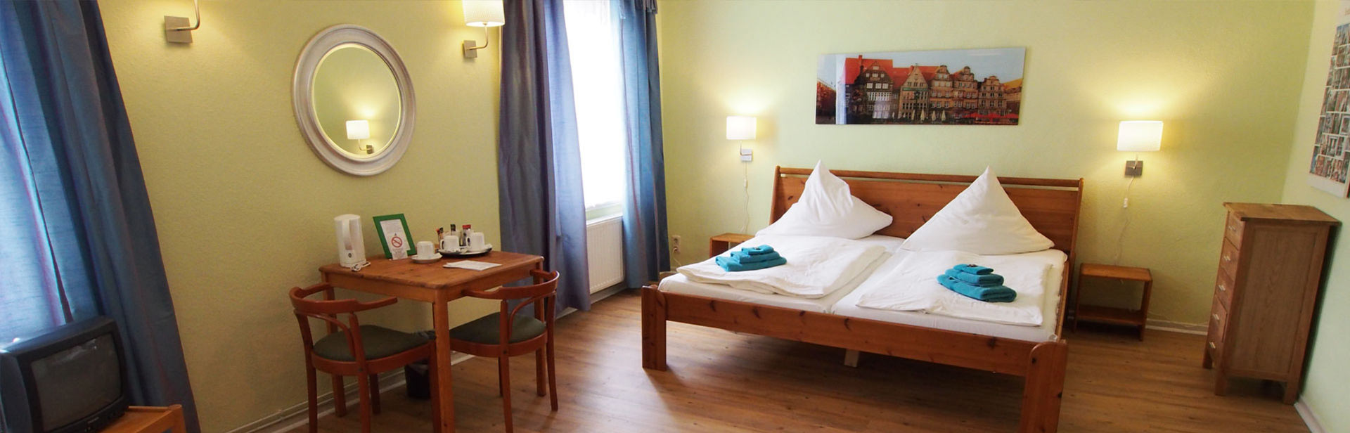 At Buthmann im Zentrum you can find cozy hotel rooms in Bremen